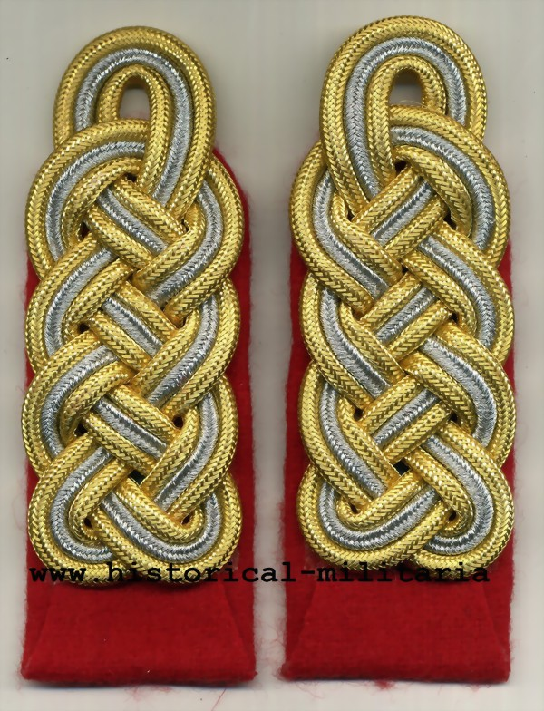Generalmajor Wehrmacht Schulterklappen zum einnähen - German Army Brigadier General sew-in shoulder boards in bright gold - spalline da Generale di Brigata dell'esercito tedesco