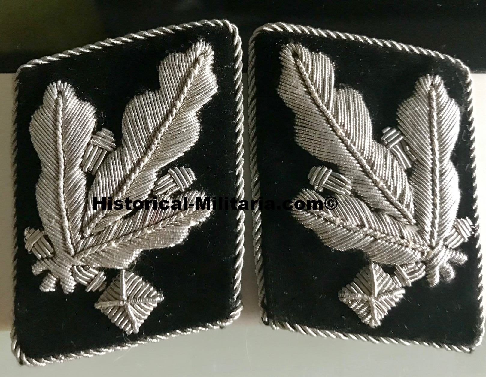 SS-Gruppenführer Set Kragenspiegel + Schulterklappen - Major General SS Set collar tabs + shoulder boards - set da Generale di Divisione della Wafen-SS mostrine e spalline - 1 pair left on stock