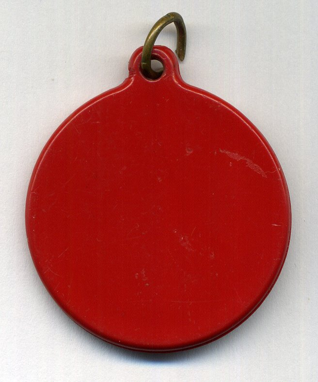 Original US Marines red KEY TO THE FUTURE plastic pendant