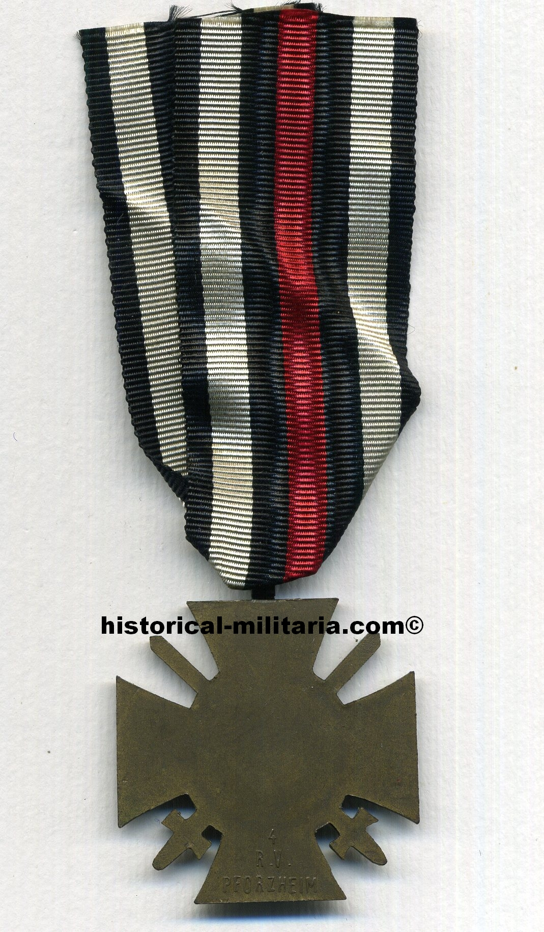 ORIGINAL Ehrenkreuz des Weltkieges 1914 - 1918 Frontkämpferkreuz punziert am Band - Original German IMPERIAL Cross Of Honour 1914 - 1918 with makers' marks and original ribbon