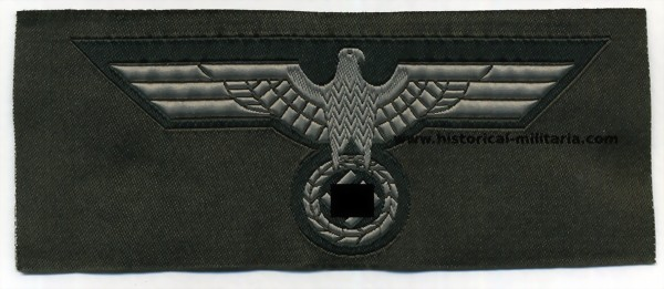 German Wehrmacht Brustadler bevo woven breast eagle on dark green factory roll - Wehrmacht Brustadler Mannschaft - Aquila da petto truppa Heer esercito tedesco